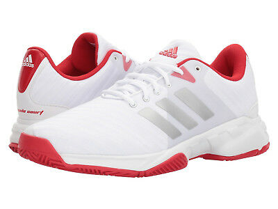 Mens Adidas Barricade Court 3 White Sport Tennis Athletic Shoes CM7814 Size 9-13