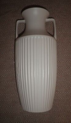 Hornsea Classic 826 White Unglazed Tall Grecian Vase Urn Excellent Vintage Cond
