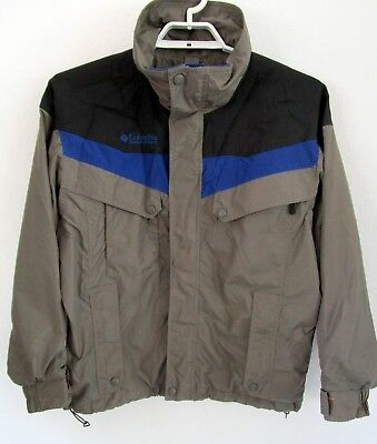 94be565694c COLUMBIA Sportwear Boulder Ridge gray blue black light ski jacket Men's  Large