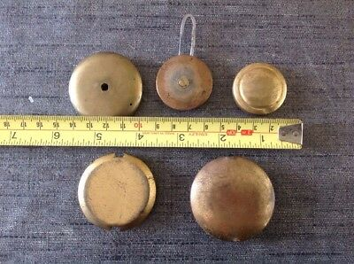 Antique Pendulum Bobs Spare Parts Collection Of 5