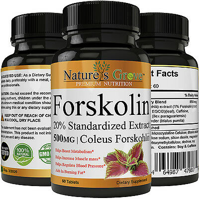 100% Pure Forskolin 500mg Max Strength, Forskolin Extract for Weight loss Fuel