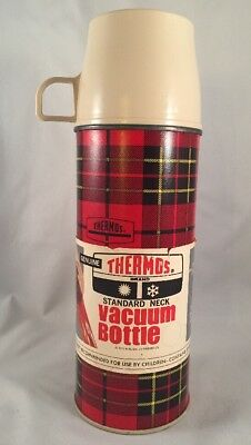 Vintage THERMOS Plaid #2242 King Seely 1971 Made in