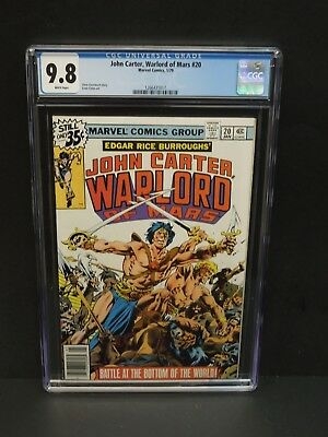 Marvel Comics John Carter Warlord Of Mars #20 1979 Cgc 9.8 White Pages