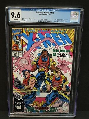 MARVEL UNCANNY X-MEN #282 1991 CGC 9.6 WHITE PAGES 1st BISHOP APPEARANCE