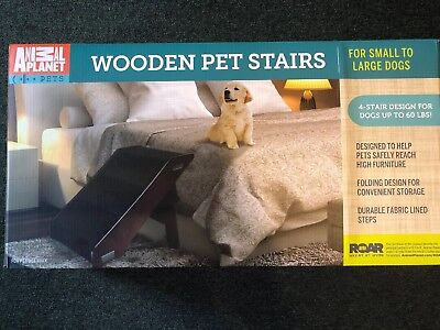 Animal Planet Wooden Pet Stairs Espresso Color ( NEW IN BOX)
