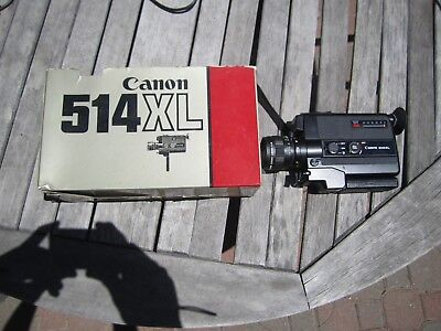 CANON 514XL Super8 movie film camera Tested Working