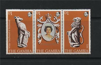 Gambia 1978 Anniv of Coronation SG 397/9 MNH