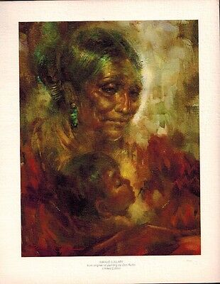 """Frameable Print """"Navajo Lullaby"""" by Don Ruffin 7 3/4 x 9 7/8"""", Gila River Reserv"""