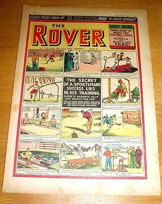 ROVER COMIC  14/6/1958   WITH SPORTSMAN'S TRAINING COVER FOOTBALL GOLF RUGBY etc