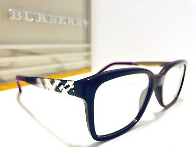 2801707f96dc Burberry Eyeglasses B 2143 3400 Violet w/ Silver Design; Square 53mm New  BE2143