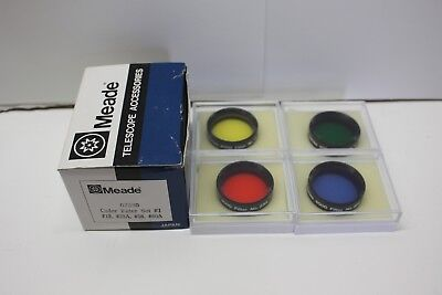 Meade 07530 4000 Series Telescope Eyepiece Color Filter Set #1 -  MADE IN JAPAN