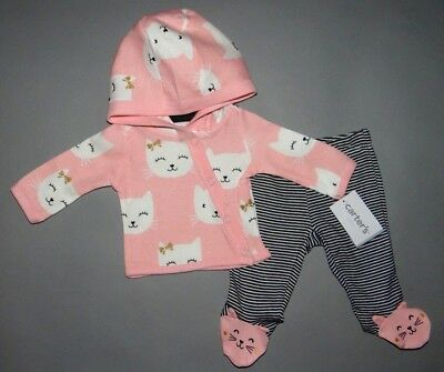 Baby girl clothes, Preemie, Carter's Little Baby Basics 2 piece set/New Arrival!