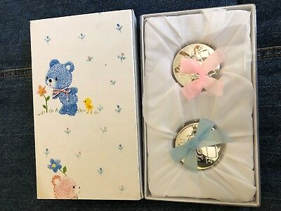 My First Curl First Tooth Set Lined Teddy Bear Silver Plated Baby Boxes