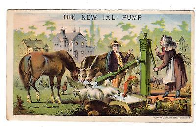 The New Ixl Pump Co Goshen Indiana*gugler Lithograph*victorian Trade Card