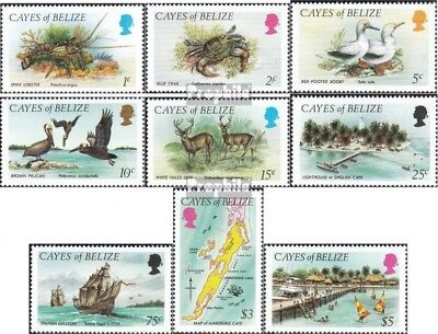 Cayes Of belize 1-9 unmounted mint / never hinged 1984 Animals and Landscapes