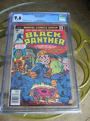 1977 Marvel Comics Black Panther #1 Cgc 9.6 White Pages A Real Beauty