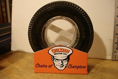 """Stand Rack for vintage 6"""" OILZUM Tire Ashtray Man Cave Gift"""