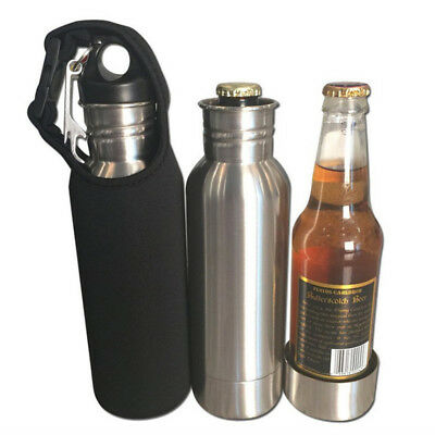 12oz Stainless Steel Beer Bottle Contanier Keeper Soda Cooler Insulator Thermos