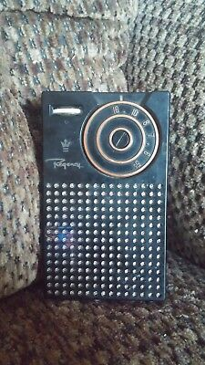 1956 2nd Generation Regency TR-1G Transistor Radio, Black.