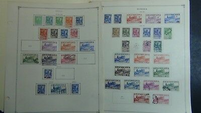 Tunisia stamp collection on Scott Int'l pages '34 -'09 w/ 370 stamps