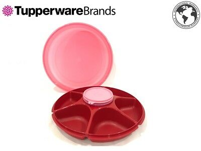 New Tupperware Serving centre royal rose red with bowl 380ml