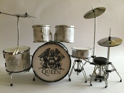 Miniature Drum Set Roger Taylor - QUEEN  Musical Birthday Fathers Day Gift