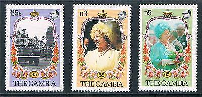 Gambia 1985 Life & Times Queen Mother SG586/8 MNH