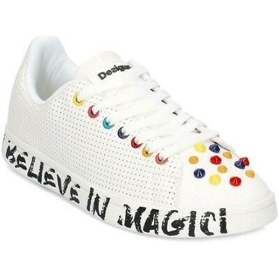 Sneakers Scarpe Desigual 41 Shoe Cosmic Candy 18SSKP23 Tennis Donna Nuove Bianco