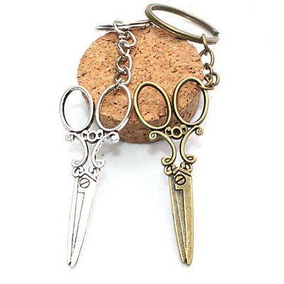 Men's Women's Fashion Creative Scissors Pendant Keychain Cute Mini Key Ring A