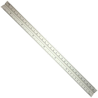 30cm Aluminium Scale Ruler Engineers Architects Building Plans Technical Drawing