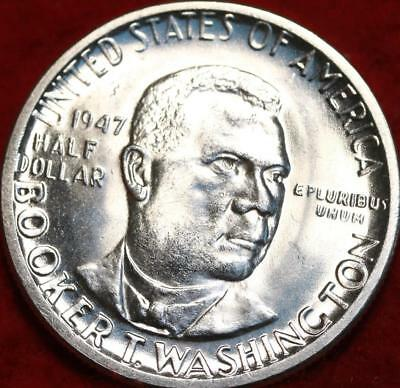 Uncirculated 1947-P Booker T Washington Silver Comm Half