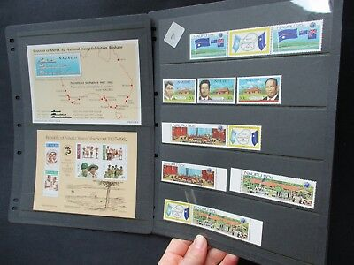 ESTATE SALE: Nauru Collection on pages - FREE POST (2546)