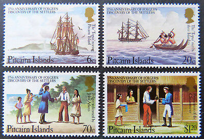 1983 Pitcairn Islands Decimal Stamps - Foglers Discovery of Settlers - Set 4 MNH