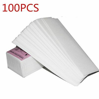 New 100PCS Hair Removal Depilatory Nonwoven Epilator Wax Strip Paper Roll Waxing