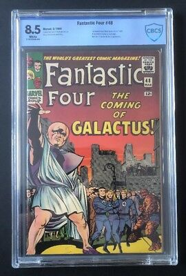 Fantastic Four #48 CBCS 8.5  WHITE PAGES - 1st Silver Surfer and Galactus