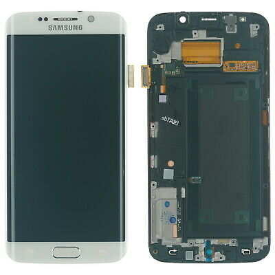 Original Samsung S6 Edge SM-G925F lcd display screen module glass touch white