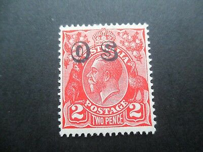 KGV Stamps: 2d Red Overprint OS  Mint  - FREE POST (d79)