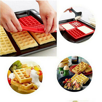 Waffles Cake Chocolate Silicone Baking Mould Cooking Tools Kitchen Accessories