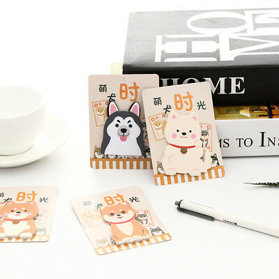 2xCute Cartoon Dogs Memo Pad Kawaii Stationery Planner Paper Sticky Notes