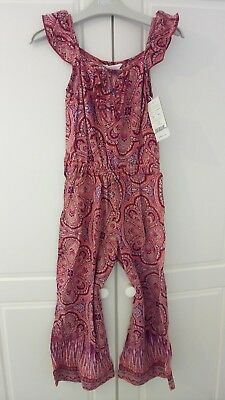 Monsoon Girls Nwt All In One Playsuit /jumpsuit 5-6 Years