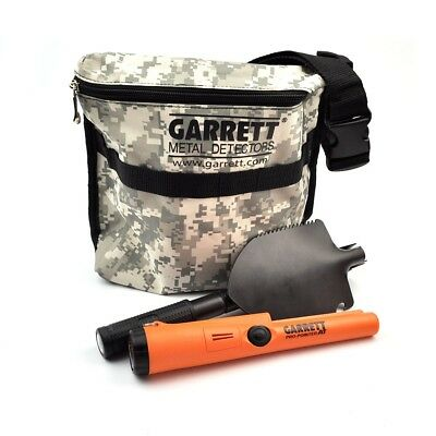 Metal detecting kit - Garrett Pro-Pointer II with shovel and treasure bag