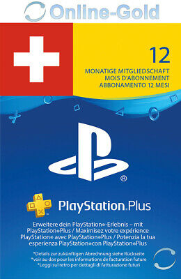 Playstation Plus Card 12 Monate 365 Tage - SONY PS3/PS4/PS Vita/PSN *CH Schweiz*