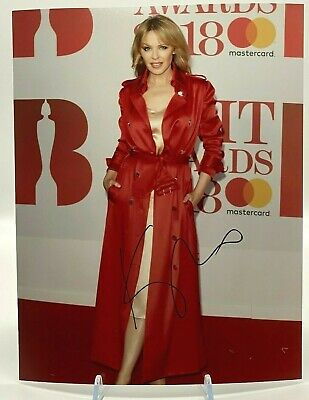 Kylie Minogue Signed Large 11x14 inch Photo AFTAL OnlineCOA