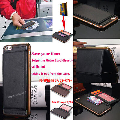 Wallet Magnetic Flip Leather Case Cover for Apple iPhone X 6S 6 Plus 7 8 Plus