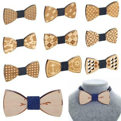 Bow Tie Accessory Wedding Party Bamboo Wood Bowtie Neck Wear for Men Wooden