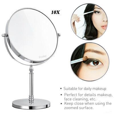 10x Magnifying Makeup Vanity Cosmetic Beauty Mirror Bathroom Mirror Double Side