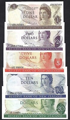 Reserve Bank of New Zealand 1978-79 Hardie $1-20 Banknote Set