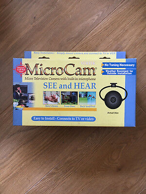 NEW B&W MicroCam - CT100 domestic camera with built-in microphone