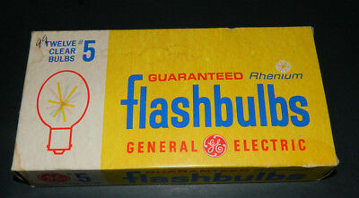 General Electric #5  Clear Flashbulbs