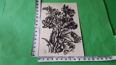 """Exlibris 85 """" Flowers """" - * Unknown * - L Signed !"""